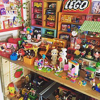 女性の、2DK、家族住まいの「棚」についてのインテリア実例