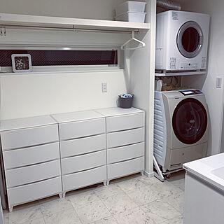 洗濯機台(キャスター付き)/乾太くん 8kgタイプ/乾太くん/洗濯機/室内干しスペース...などのインテリア実例 - 2020-07-25 09:03:32