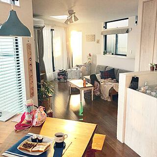 女性36歳の家族暮らし3LDK、ダイニングの風景に関するnonp--yさんの実例写真