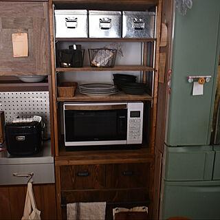 キッチン隙間収納/キッチン収納/大人かっこいい/古道具のある暮らし/DIY...などのインテリア実例 - 2020-11-10 18:33:33