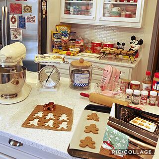 ジンジャーブレッドマン/gingerbread man/クリスマスクッキー☆/クッキー/kitchenaid...などのインテリア実例 - 2019-12-23 08:21:11
