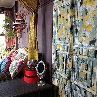 ベッド周り/家が古い/寝室の一角/和室を改造/和室をセルフリフォーム...などのインテリア実例 - 2017-09-08 07:08:09