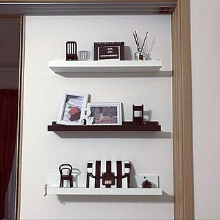 棚/ピクチャーシェルフ/IKEA/DIY/モノトーンのインテリア実例 - 2018-05-09 20:26:42