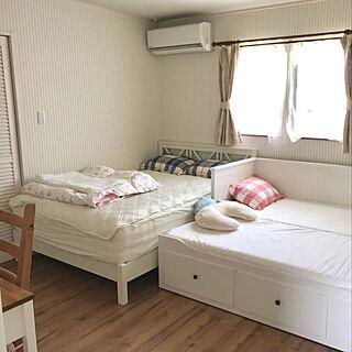 女性28歳の家族暮らし4LDK、ベッドに関するmanaさんの実例写真