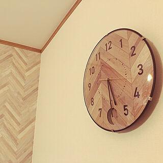 ニトリの時計/ニトリ/掛け時計/インテリア好き/明るい家...などのインテリア実例 - 2020-11-29 14:21:49
