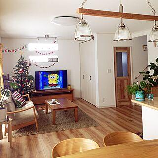 部屋全体/unicoの照明/引き戸/クリスマス/植物...などのインテリア実例 - 2015-11-16 10:31:10