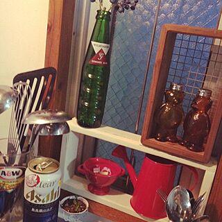 キッチン/ジンジャエール/ビール♡/ごちゃごちゃは気にしないでね❤︎/うみんちゅのインテリア実例 - 2014-05-09 19:20:46