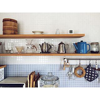 女性家族暮らし4LDK、オープン収納に関するkomakiさんの実例写真