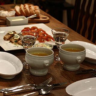 キッチン/PILLIVUYT/ダイニングテーブル/食卓/テーブルコーディネート...などのインテリア実例 - 2019-01-27 10:08:58