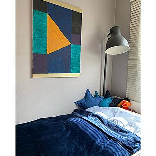 アートギャラリー/IG→hibiscus_aloha/IKEA/アートのある暮らし/ベッド周りのインテリア実例 - 2020-10-14 17:52:44