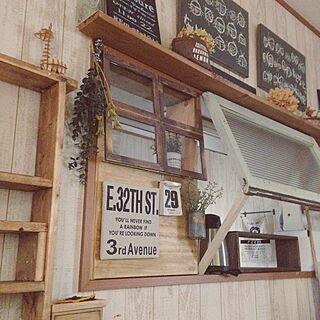 キッチン/フォトフレームリメイク/カフェ風に憧れる。/そうめんの箱/DIY...などのインテリア実例 - 2016-06-29 14:27:14