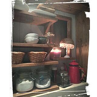 女性家族暮らし、食器棚DIYに関するAnjelさんの実例写真