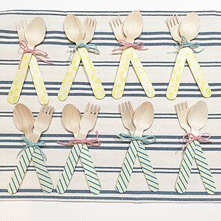 女性家族暮らし、木のフォークに関するchibimuさんの実例写真