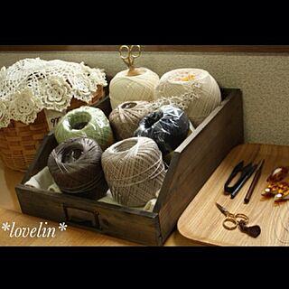 棚/レース玉/編み物/似てるものを並べたい/レース編み...などのインテリア実例 - 2013-09-02 12:08:53