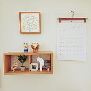 棚/すっきり暮らしたい/来年のカレンダー/壁に付けられる家具/無印良品...などのインテリア実例 - 2020-10-03 14:16:33