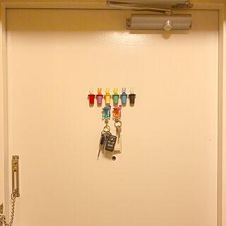 鍵/キーフック/マグネット/アレッシィ/ドア...などのインテリア実例 - 2019-06-07 18:02:44