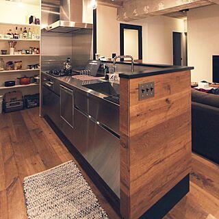キッチン/高さ900/パントリー/ステンレス/オーク...などのインテリア実例 - 2015-10-27 14:14:29