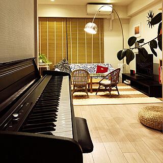 部屋全体/korg電子ピアノ/KORG/電子ピアノ/アルコランプのある暮らし...などのインテリア実例 - 2019-01-25 06:52:04