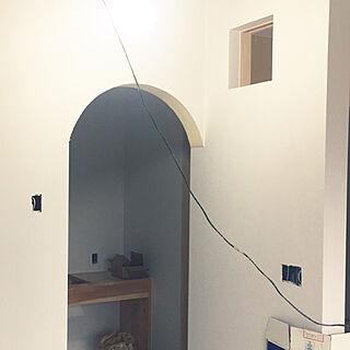 リビング/R垂れ壁/リビング/無垢材/マイホーム建築中...などのインテリア実例 - 2018-01-30 20:56:13
