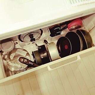 キッチン/まな板立て/積み重ねる収納BOX/フライパン収納/シンク下収納...などのインテリア実例 - 2016-09-05 22:22:37