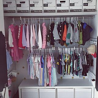 棚/子供服収納/クローゼット収納/IKEA/掛ける収納のインテリア実例 - 2017-10-18 06:13:54