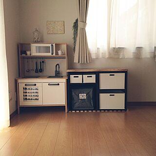 棚/coucou/こどもスペース/おもちゃ収納/IKEA...などのインテリア実例 - 2017-05-12 09:40:33