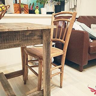 女性家族暮らし2DK、好きな雰囲気の椅子に関するyukimushiさんの実例写真