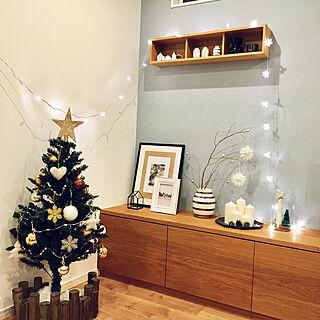 棚/クリスマス/北欧/IKEA/グレー好き♡...などのインテリア実例 - 2017-12-22 21:33:01