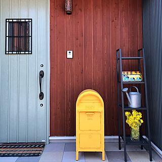 玄関/入り口/モスグリーン/新築/bino wave/スキップフロアの家...などのインテリア実例 - 2017-02-28 18:14:04
