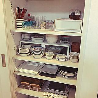 キッチン/収納/食器棚収納/食器棚/カフェ風...などのインテリア実例 - 2018-07-12 10:15:19