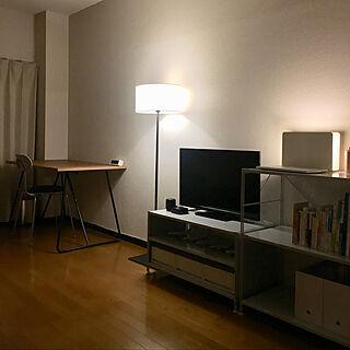 男性24歳の一人暮らし1DK、テレビ台に関するTsurugi.2999さんの実例写真