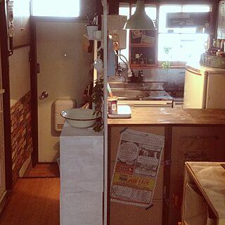 部屋全体/キッチン改造計画/部屋側から見たキッチンのインテリア実例 - 2013-08-19 09:14:56