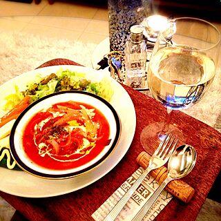 女性一人暮らし1DK、ワンプレートご飯に関するHALさんの実例写真