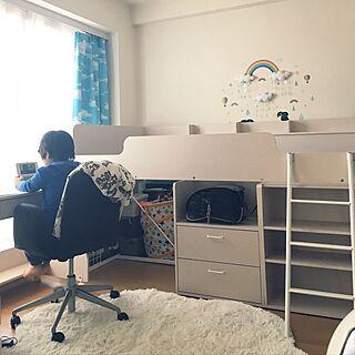 女性38歳の家族暮らし1LDK、システムベッドに関するmurami1122さんの実例写真