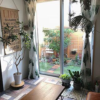 女性36歳の家族暮らし4LDK、庭カフェに関するANNAさんの実例写真