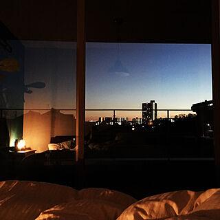 壁/天井/夕暮れ時/間接照明/主寝室からの眺めのインテリア実例 - 2019-02-27 17:49:52