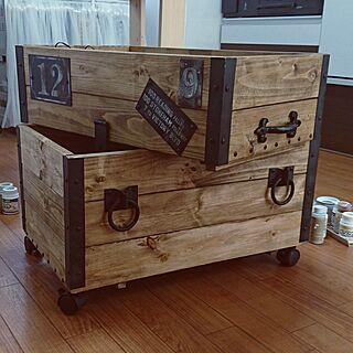 玄関/入り口/STORAGE BOX/PAINT/wood box/DIY...などのインテリア実例 - 2017-02-07 12:17:44