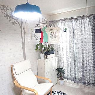壁/天井/物干し竿/ハンギンググリーン/IKEAのポエング/白木目調...などのインテリア実例 - 2019-04-25 08:05:08
