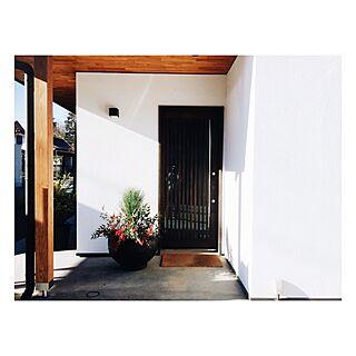 女性42歳の家族暮らし、造作玄関に関するharuさんの実例写真