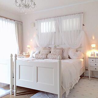 ベッド周り/フランフラン/寝室/ローラアシュレイ/IKEA...などのインテリア実例 - 2016-10-22 15:32:15