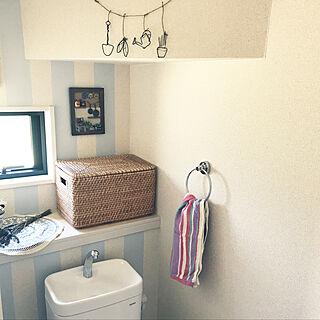 女性家族暮らし4LDK、白×水色に関するumeboshi08さんの実例写真