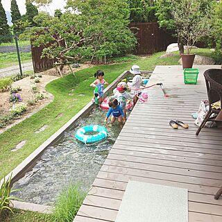 女性37歳の家族暮らし3DK、夏の庭に関するmakomiさんの実例写真