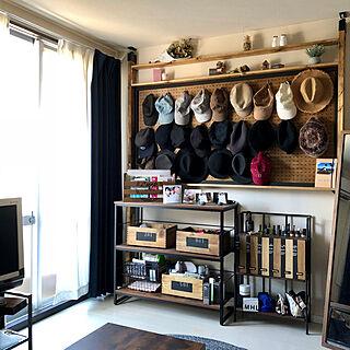 有孔ボード/棚DIY/おうちを好きになる/いつもボチボチ/帽子...などのインテリア実例 - 2019-11-10 12:01:27