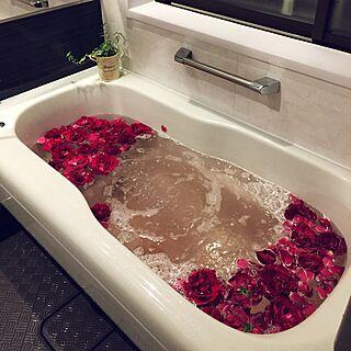 バス/トイレ/薔薇風呂/リラックスタイム/酸素浴のインテリア実例 - 2017-05-22 22:26:59