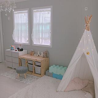 グレーの壁/グレー×白/IKEA/キッズルーム/子供部屋...などのインテリア実例 - 2019-05-23 21:48:47
