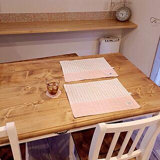 女性29歳の家族暮らし3LDK、手作りランチョンマットに関するmaaさんの実例写真