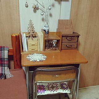 女性家族暮らし、昭和の学校の机に関するmamechanさんの実例写真