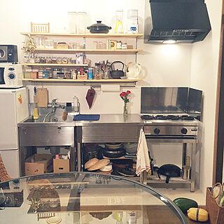 キッチン/壁面収納/バラ/花のある暮らし/古家を買ってリノベーション...などのインテリア実例 - 2018-12-23 22:12:18