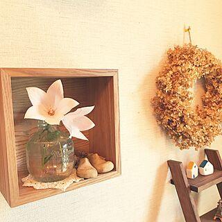 玄関/入り口/アナベルドライリース/花のある暮らし/ニトリ/おはようございます✩.*˚...などのインテリア実例 - 2017-07-19 07:26:50