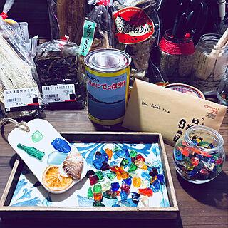 机/北海道の旨いもん/2018.6.6☀️/カフェトレイ/琉球ガラスカレット...などのインテリア実例 - 2018-06-06 18:56:47